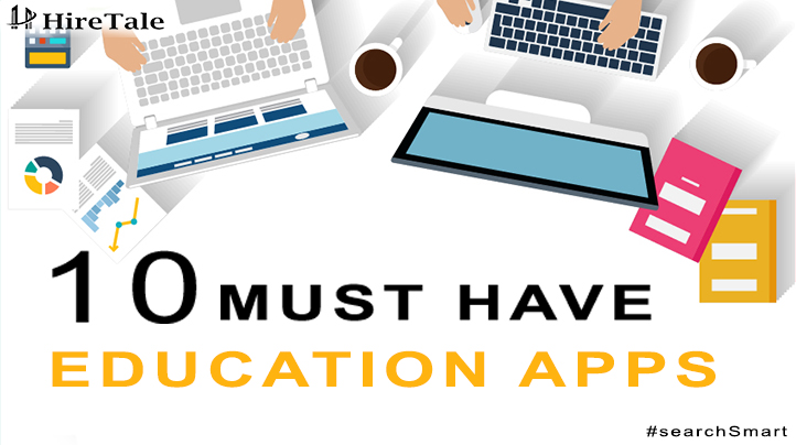 10 Must Have Education Apps - Infographics